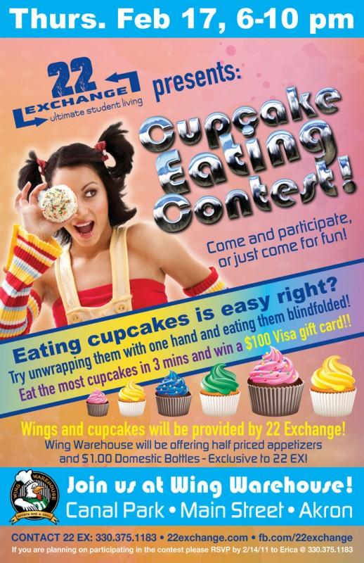 blindefolded cupcake eating contest