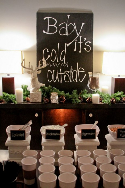 hot chocolate bar for your winter apartment community party hot