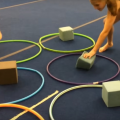 Super High Energy Tic-Tac-Toe and Hula Hoop Relay Race
