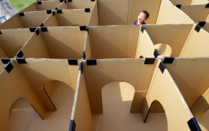 Cardboard Fortress For Your Community's Princes and Princesses