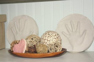 Mother's Day Craft: Plaster of Paris Hand Impressions