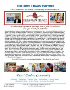 Community Wellness Event and Free Health Fair - in honor of Heart Month