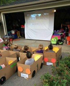 Cardboard Drive In Movie